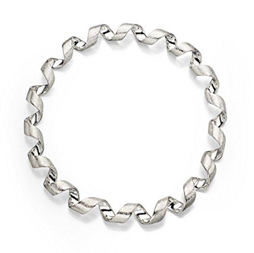 Argent sterling Finition Scratch Twist Bracelet