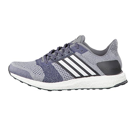 adidas Herren Laufschuhe Ultra Boost ST grey/ftwr white/core red s17 40
