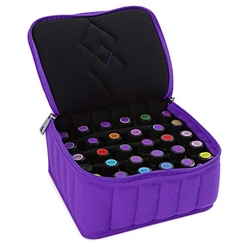 PackingRent Portable 30 Bottles Essential Oil Carrying Shockproof Case Cosmetic Bag 15Ml Oil Holder Travel Storage Box Nail Polish Organizer ()