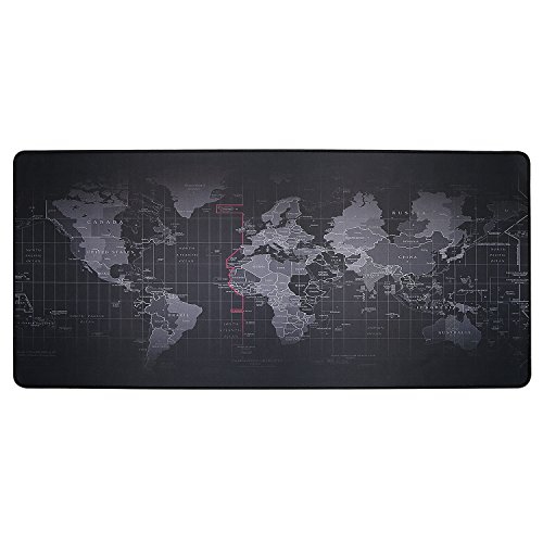 BIFY World Map Extended Gaming Mouse Pad Large Size 900x400mm Office Desk Pad Mat with Stitched Edges for PC Laptop Computer - World Map Photo #4