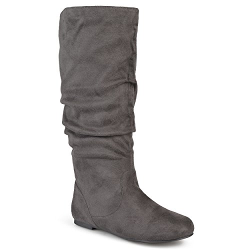 Microsuede Calf Journee Collection Boots Calf 10 Grey Womens Wide Wide Slouch ngtXpdXqr