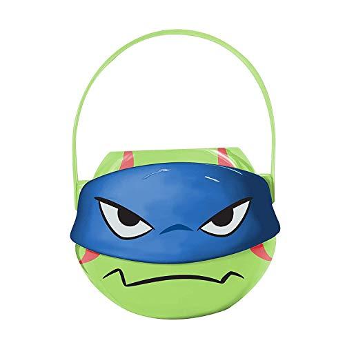 Teenage Mutant Ninja Turtle Leonardo Blue Figural Plastic Bucket (TMNT LEO) - Easter Basket, Halloween Candy, Party Favor, Decoration]()