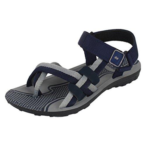 Earton Mens Footwear Blue-834 Canvas Sandals (7 UK)