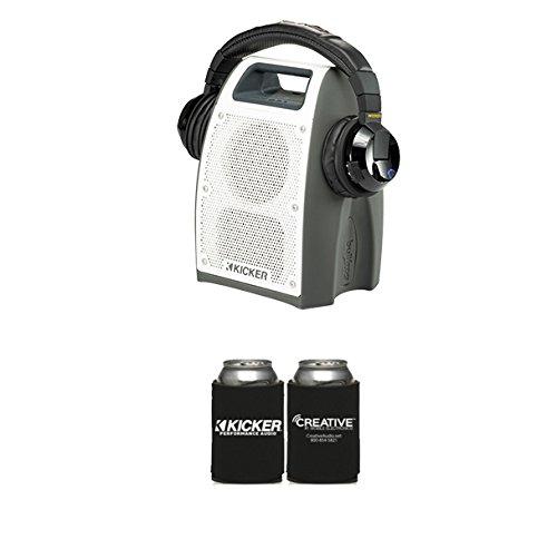 (KICKER Bullfrog Bundle One Bullfrog 400 in Gray & Tabor Bluetooth Headphones)