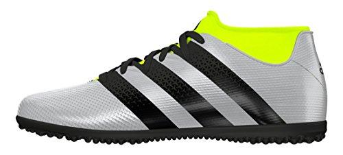 adidas Ace 16.3 Primemesh TF J, Botas de Fútbol Unisex Niños Plateado (Plamet / Negbas / Amasol)