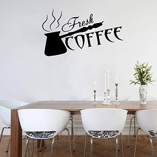 Vogue Cafe Wall - Gabriel Bloor Wall Decal Quotes Fresh Coffee Wall Sticker Kitchen Art Mural Vogue Waterproof Cafe Shop Window Decals Home Decor 57 33cm