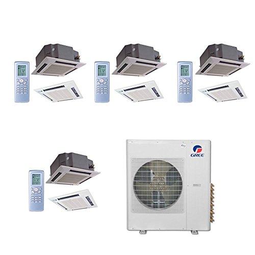 gree-multi36bcas406-36000-btu-multi21-quad-zone-ceiling-cassette-mini-split-air-conditioner-with-hea