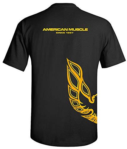 Pontiac Trans Am Firebird Wrapped Style T-Shirt 100% Cotton Preshrunk - Black
