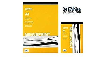 Seawhite of Brighton Newsprint Paper Drawing /& Sketching Art Pad A4