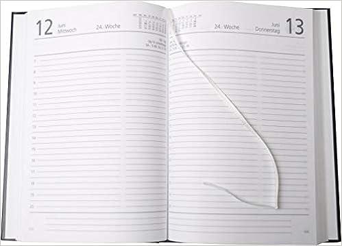 schwarz Buchkalender 15 x 21 cm 1 Tag // 1 Seite
