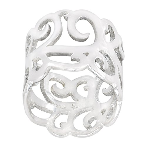 ing Silver Filigree Band Ring (Style Silver Filigree Ring)
