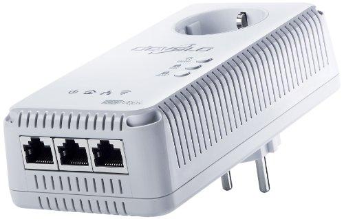 Devolo dLAN 500 AV Wireless+ Powerline PowerLAN-Adapter (WLAN / WIFI, Integrierte Steckdose)