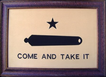 (Large Come And Take It Framed Flag Aged USA Real Rustic Western Framed Wall Art)