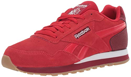 Reebok Men's Classic Harman Run Sneaker Stadium Triathlon red/White/Gum, 15 M US