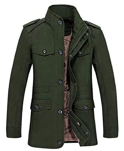 Big Tall Jacket Zip Cotton Men's Full Collar Windbreaker Jacket Stand security 1 BZw0x8B