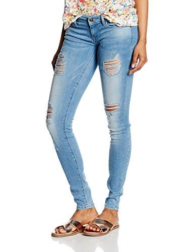 ONLY Damen Skinny Jeanshose onlCORAL SL SK DESTROY CRE332 NOOS, Gr. W26/L30 (Herstellergröße: 26), Blau (Light Blue Denim)