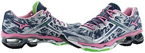 Mizuno Women's Wave Creation 15 Running Shoe Pink/Navy/Gray oIpZjw2UR
