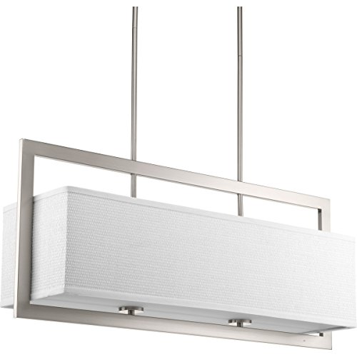 Progress Lighting P4759-09 Harmony Collection Four-Light Linear Chandelier, Brushed Nickel