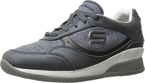 Skechers Women's Vita Fashion Sneaker - Navy Leather/Line...