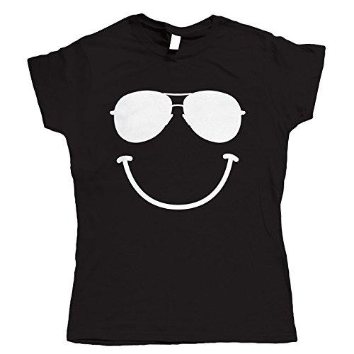 Noir Vectorbomb Shirt Soleil Pour De Smiley T Femmes Festival Lunettes gqg7Uwz