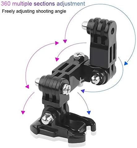 //3//2 //1 GoPro HERO7 //6//5 //5 Session//4 Session //4//3 Xiaoyi and Other Action Cameras Dur Cycling Helmet Adhesive Multi-Joint Arm Fixed Mount Set with J-Hook Buckle Mount /& Screw for DJI New Action