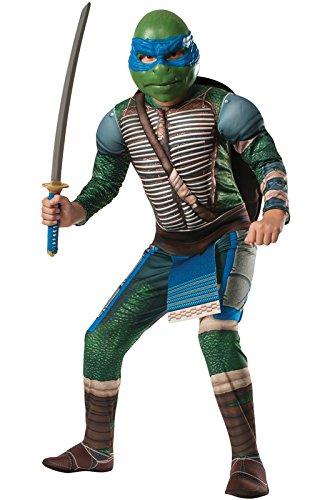Rubie's Costume Men's Teenage Mutant Ninja Turtles Movie Deluxe Adult Muscle Chest Leonardo, Multicolor, X-Large