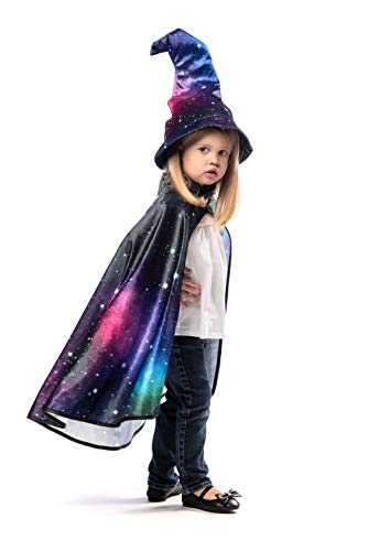 Little Adventures Wizard Costume Cape & Hat Sets (Galaxy) Black -