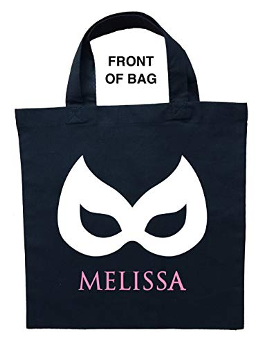 Catwoman Trick or Treat Bag, Catgirl Trick or Treat Bag, Personalized Catwoman Halloween Bag, Double Sided Catgirl Bag