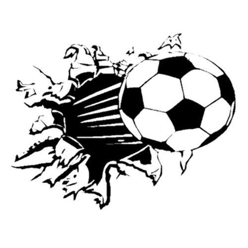 TOOGOO(R) Soccer Ball Football vinyl Wall Sticker Decal Kids Room Decor Sport Boy Art Bedroom,s2002