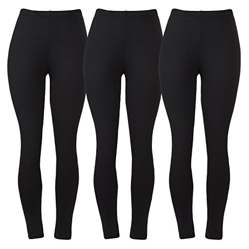 Aenlley Women's Fashion Spandex Leggings - Ultra Soft Workout Legging Color Black Size Plus Size(Fit L-2XL) (Wool Cotton Leggings)