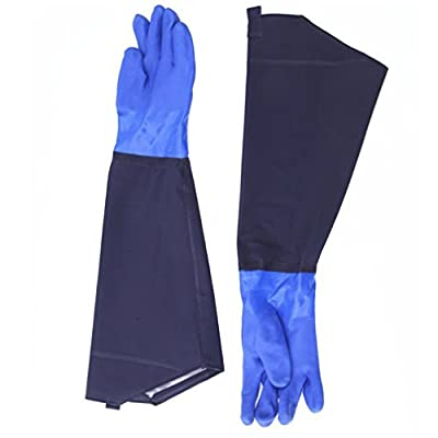 """SYROVIA™ 1 Pair 25.6"""" Long Waterproof Rubber Gloves Thicken Winter Cotton Lined Work Gloves - Car Washing Aquaculture Oil Worker Spraying"""