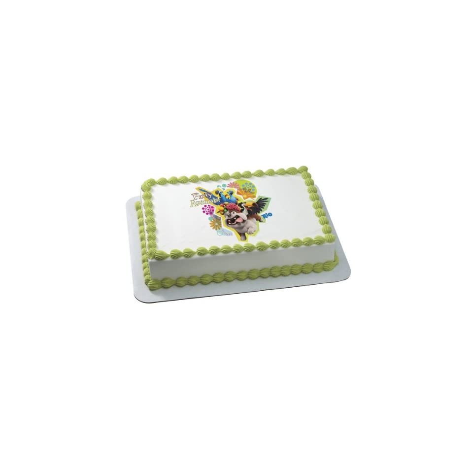 Rio Blu Party Animal Edible Cake Topper Decoration
