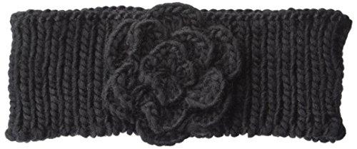 Britt's Knits Head Warmer, Black Rosette, One (Rosette Accent Knit)