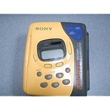 Sony Corporation Sony Sports Walkman FM/AM AVLS Auto Reverse Cassette Tape Player Model# WM-SXF39 AM/FM Portable Radio (Sony Walkman #WM-SXF39) (Yellow/Grey Version)