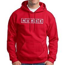 Nurse Spelled with Periodic Table Elements Premium Hoodie Sweatshirt XL Deep Red