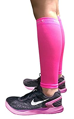 BeVisible Sports CALF COMPRESSION SLEEVE Shin Splint Leg Compression Socks for Men & Women - Great For Running, Cycling, Air Travel, Support, Circulation & Recovery - 1 Pair