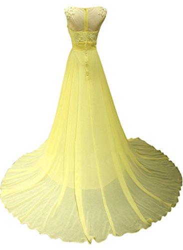 Promgirl House Damen Elegant A-Linie Chiffon Spitze Abendkleider Ballkleider Cocktailkleider Fest Lang
