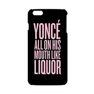 Ultra Thin Pink yonce motto 3D Phone Case for iPhone 6 plus