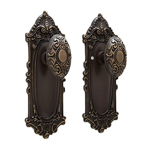 Signature Hardware 394718 Victorian Privacy Door Knob Set with 2-3/8