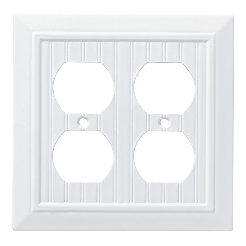 - Franklin Brass W35271-PW-C Classic Beadboard Double Duplex Wall Plate/Switch Plate/Cover, Pure White
