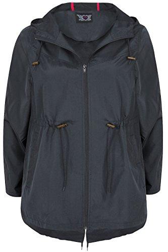 Yours Clothing Women's Plus Size Pocket Parka Jacket Navy