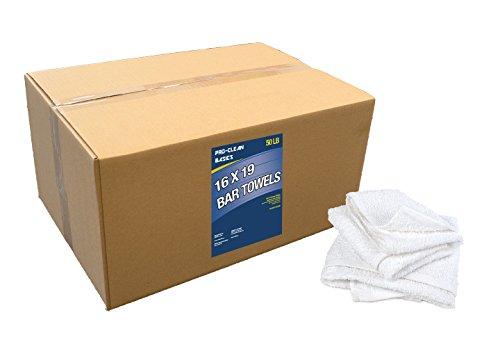 Pro-Clean Basics A51757 Bar Towels, 50 lb. Box, 16'' x 19'' by Pro-Clean Basics