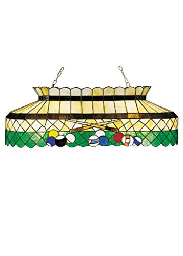 40 Inch L Green Billiard Oblong Pendant , Ceiling Fixture , Meyda (Billiard Oblong Pendant)