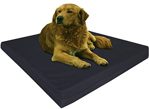 Dogbed4less Gel Cooling Memory Foam Dog Bed with Durable Washable Canvas Cover and Waterproof Internal Liner + Extra Replacement Case, XL 40