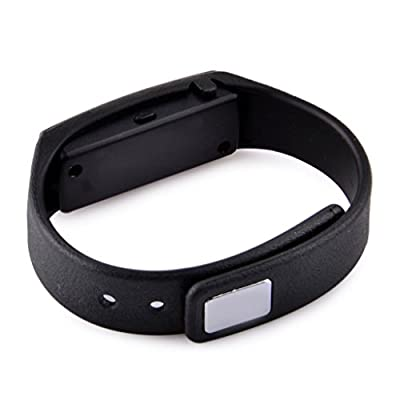 Fitness Tracker Wristband, Wireless Activity Tracker Sleep Monitor with Pedometer Waterproof Bluetooth Smart Bracelet for Iphone IOS and Samsung HTC Android Phones Black