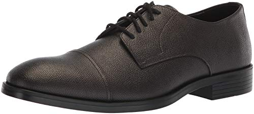 Calvin Klein Men's Conner Small Tumbled Leather Oxford, Dark Brown, 7 M M US