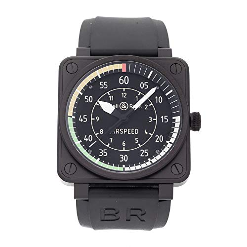 Bell & Ross BR01-92 Mechanical (Automatic) Black Dial Mens Watch BR0192-Airspeed (Certified -