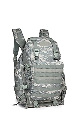 OUTGEAR Expandable Military Rucksacks Multipurpose Crew Cab Tactical Daypacks Backpacks with Grenade Survival Kit For Hiking Climbing School Outdoor Sports