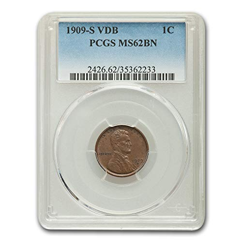1909 S VDB Lincoln Cent MS-62 PCGS (Brown) Cent MS-62 -