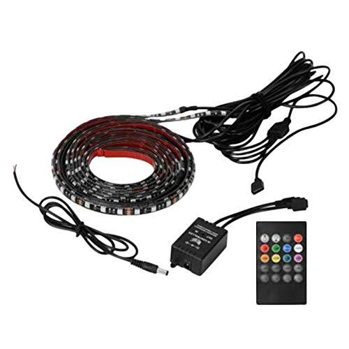 Adanse Striscia LED RGB da 4 Pezzi sotto Il Kit per Luci l Neon del Sottoscocca del Sottoscocca del Tubo uto